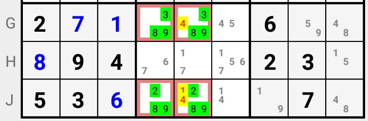Sudoku Hidden Quads Strategy explained